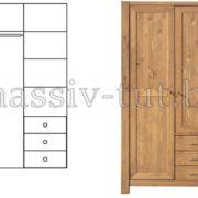 Шкаф Фьорд 113, АртСквер, массив, мебель 1