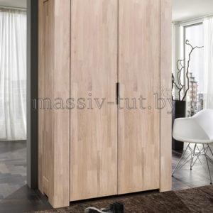 Шкаф платяной «Фьорд» 2-х дверный из массива дуба