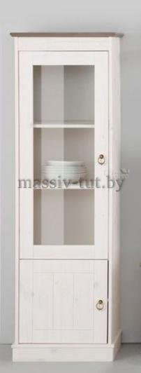 """Шкаф с витриной """"Индра"""" Д7173-1 из массива сосны"""