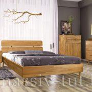 Кровать из массива дуба «Сканди» 3