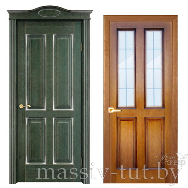 М15 дверь из массива сосны Поставский Мебельный Центр ПМЦ