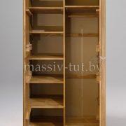 Шкаф из массива дуба «Лозанна» 2-х дверный 4