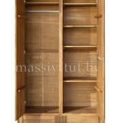 Шкаф из массива дуба «Валенсия» 2-х дверный 1