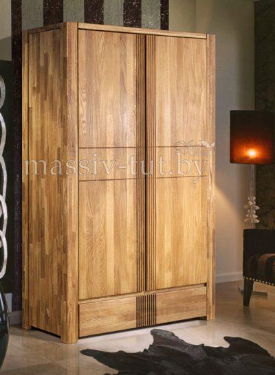 Шкаф из массива дуба «Валенсия» 2-х дверный 7