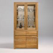 Шкаф комбинированный «Лозанна 2» из массива дуба 1