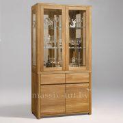 Шкаф комбинированный «Лозанна 2» из массива дуба