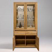 Шкаф комбинированный «Лозанна 2» из массива дуба 2
