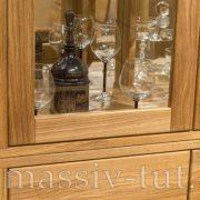 Шкаф комбинированный «Лозанна 2» из массива дуба 4