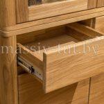 Шкаф комбинированный «Лозанна 2» из массива дуба 5
