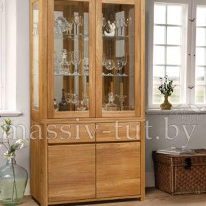 Шкаф комбинированный «Лозанна 2» из массива дуба 6