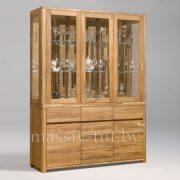 Шкаф комбинированный «Лозанна 3» из массива дуба 1