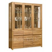 Шкаф комбинированный «Лозанна 3» из массива дуба