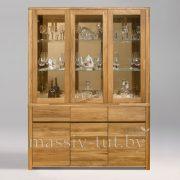 Шкаф комбинированный «Лозанна 3» из массива дуба 2