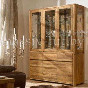 Шкаф комбинированный «Лозанна 3» из массива дуба 3