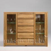 Шкаф комбинированный - бар «Лозанна 4» из массива дуба