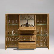 Шкаф комбинированный - бар «Лозанна 4» из массива дуба 2