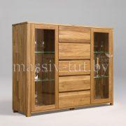 Шкаф комбинированный - бар «Лозанна 4» из массива дуба 3