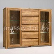 Шкаф комбинированный - бар «Лозанна 4» из массива дуба 4