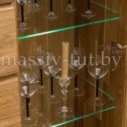Шкаф комбинированный - бар «Лозанна 4» из массива дуба 5