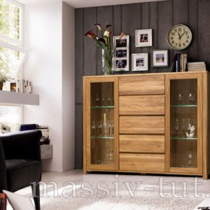 Шкаф комбинированный - бар «Лозанна 4» из массива дуба 7