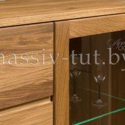 Шкаф комбинированный - бар «Лозанна 4» из массива дуба 8