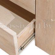 Шкаф с витриной «Фьорд 1» однодверный из массива дуба 3