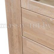 Шкаф с витриной «Фьорд 1» однодверный из массива дуба 4