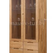 Шкаф с витриной «Сканди 2» из массива дуба 1