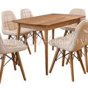 Стол обеденный «Сканди» из массива дуба 1