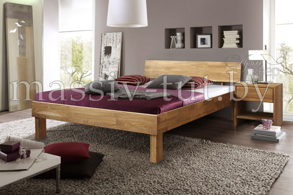 Кровать из массива дуба «Ева» 3