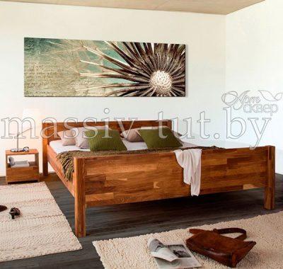 Кровать из массива дуба «Ханс» 2