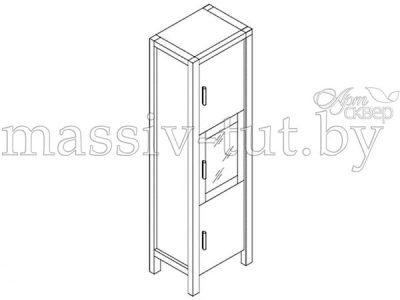 Шкаф с витриной 3-х дверный «Авеню» Д7131-3