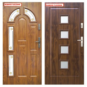 Дверь KMT Plus 75 с витражем и багетной рамкой