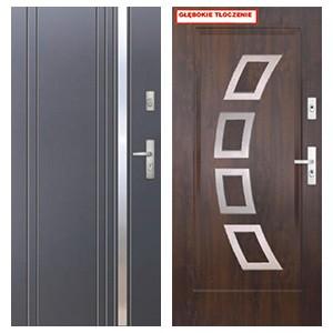 Дверь KMT PLUS 75 глухие серия Inox