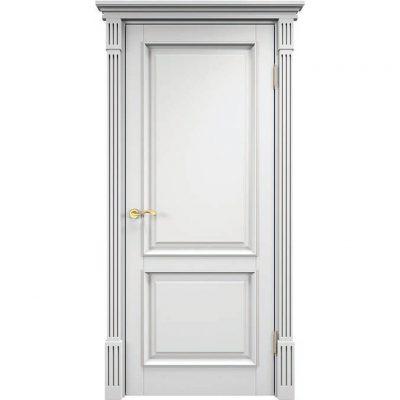 полотно Legend 1, массив сосны, 90х200, покрытие - белая эмаль