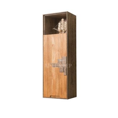 """Шкаф навесной """"Сканди 1.1"""" Дизайн из массива дуба"""