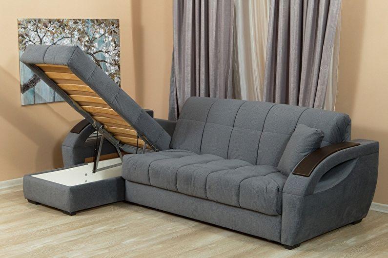 ортопедический серый диван