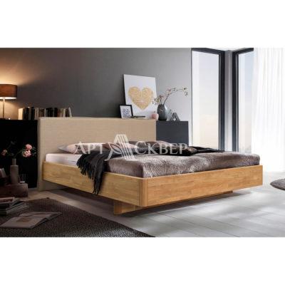 """Кровать из массива дуба """"Мариса"""" 140х200 с мягким изголовьем"""