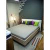 """Кровать из массива дуба """"Мариса"""" 180х200 с мягким изголовьем, цвет беленый дуб. распродажа"""