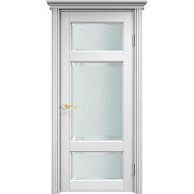 """Libro дверь из массива сосны, цвет белый воск, без """"микрошипа"""", 60х205 !, 3 стекла,  2шт."""