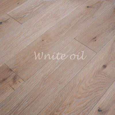 Паркет однополосный 3-х слойный дуб Wnite oil