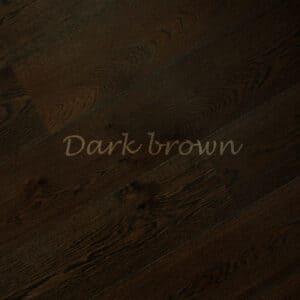 Паркет однополосный 3-х слойный дуб Dark brown