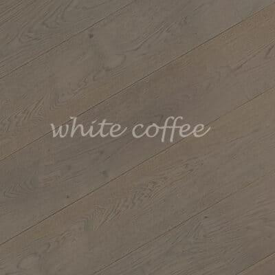 Паркет однополосный 3-х слойный дуб white coffee