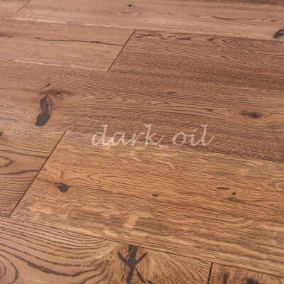 Паркет однополосный 3-х слойный дуб Dark_oil