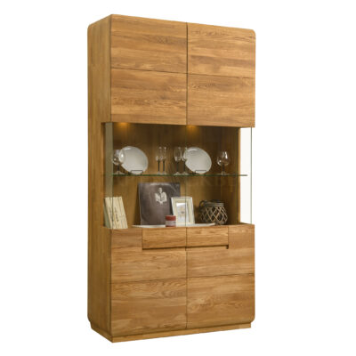 """Шкаф с витриной """"Faina 2"""" из массива дуба"""