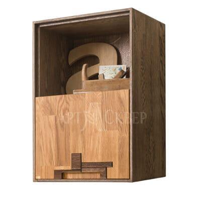 """Шкаф навесной """"Сканди 2.1"""" из массива дуба"""