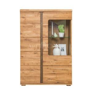 """Шкаф с витриной """"Логан 1"""" из массива дуба"""